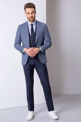 Pierre Cardin Erkek Açık Lacivert Slim Fit Takım Elbise