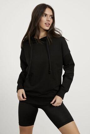 Arma Life Kadın Siyah Kapüşonlu Sweatshirt