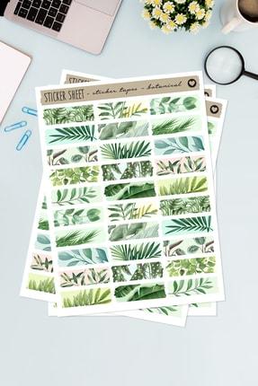 Funbou Şekilli Sticker Bant, Botanical / 2 Sayfa
