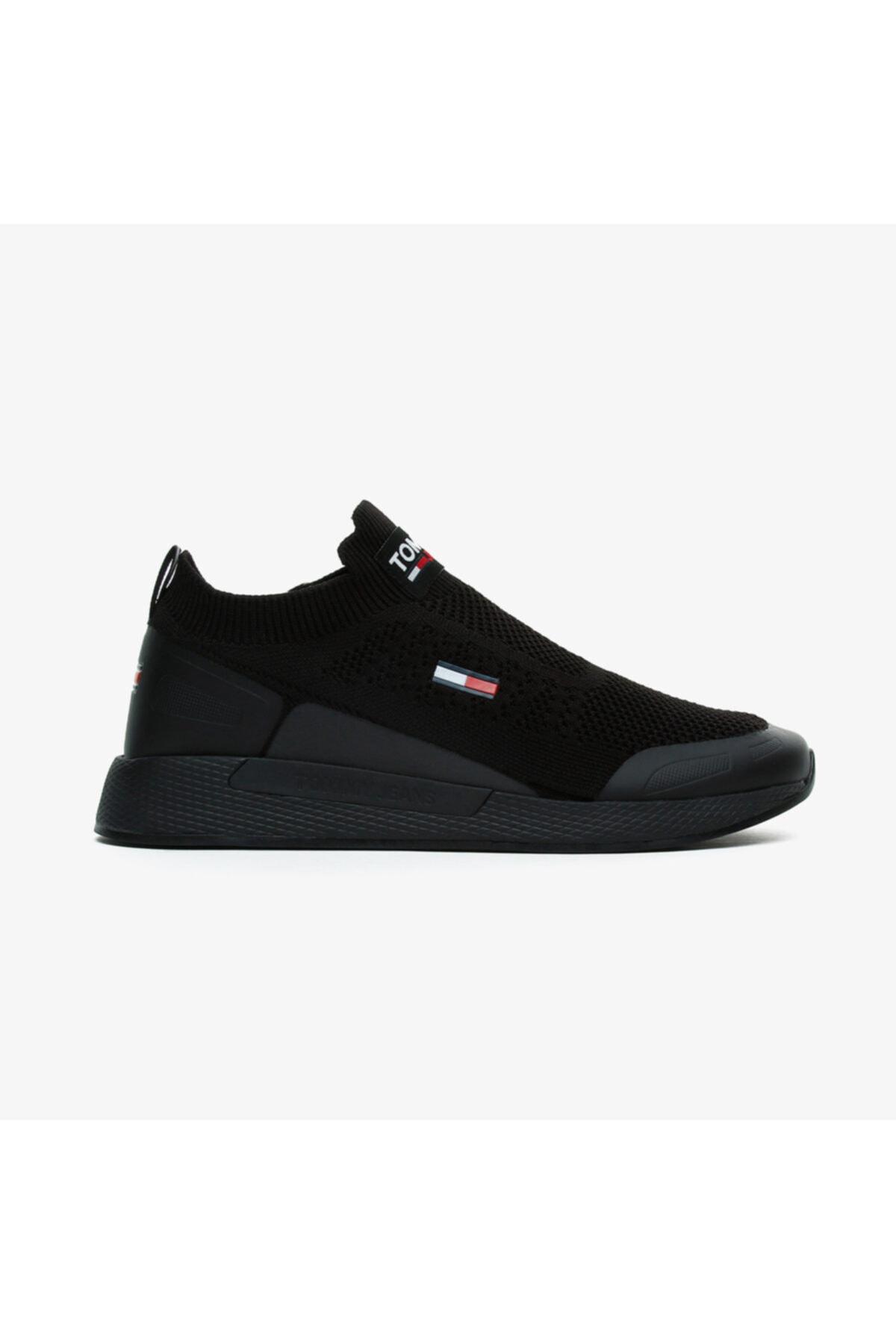 Tommy Hilfiger Erkek Siyah Bağcıksız Spor Ayakkabı 1