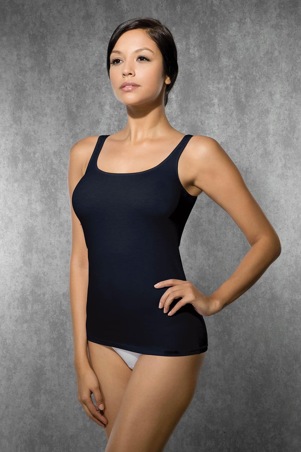 Doreanse Kadın Lacivert Modal Ip Askılı Atlet 9320 1