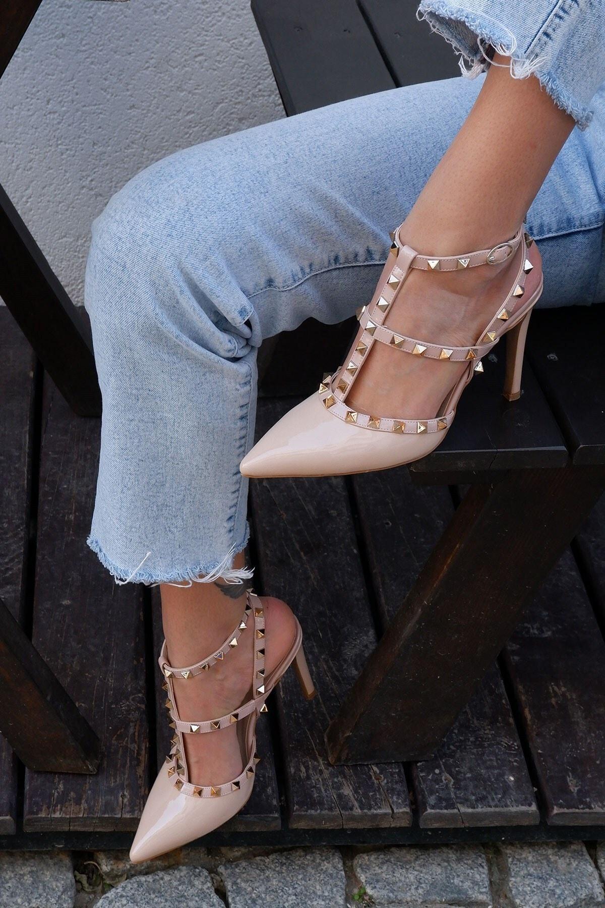 Tinka Bell Shoes Kadın Pudra Stiletto Ayakkabı- 129 2