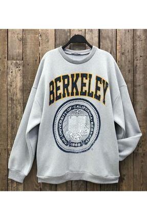 MODAGEN Kadın Berkeley Baskılı Oversize Sweatshirt