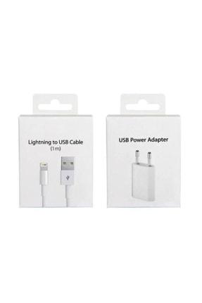 TRMAX Apple Iphone Şarj Aleti Seti 5/5s/6/6s/7/7plus X/xs/xs Max/11/12 (KABLO ADAPTÖR)
