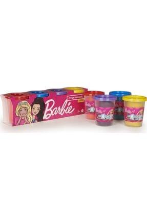 Barbie Oyun Hamuru 4'lü Paket - (4 X 100 Gr)