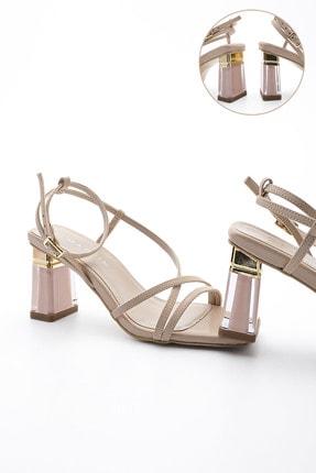 Marjin Kadın Şeffaf Topuklu Ayakkabı Manerbej