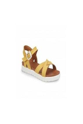 Polaris 91.508159.P Sarı Kız Çocuk Sandalet 100374508