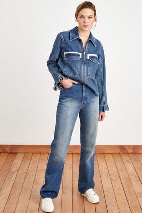 Love My Body Kadın Lacivert Bol Paça Jean Pantolon 153M1685000
