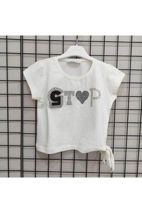 NK Kız Çocuk Ekru Stop Tişört