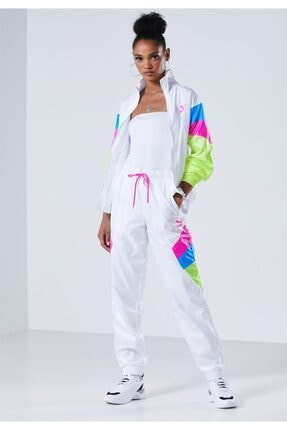 Puma Tfs Track Pant Woven Kadın Beyaz Ceket - 59775102