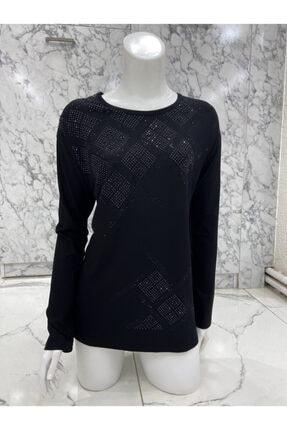İKLİM LİFE Kadın Siyah Penye Bluz