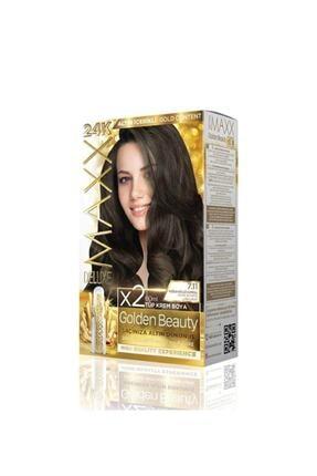 Maxx Deluxe Golden Beauty 24k Altın Içerikli 7.11 Yoğun Küllü Kumral Saç Boya Seti