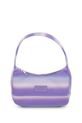 Housebags Kadın Mor Renkli Baguette Çanta 197