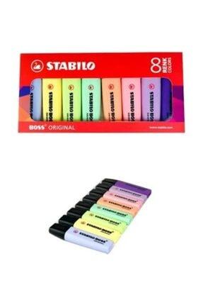 Stabilo Boss Fosforlu Kalem 8 Pastel Renk