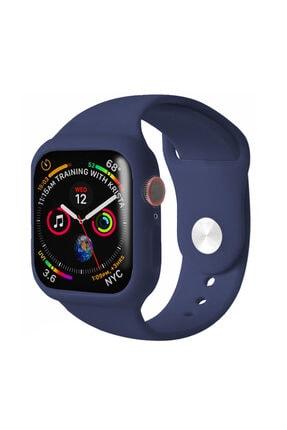 Apple Microsonic Watch Se 40mm Kordon 360 Coverage Silicone Uyumlu  Lacivert