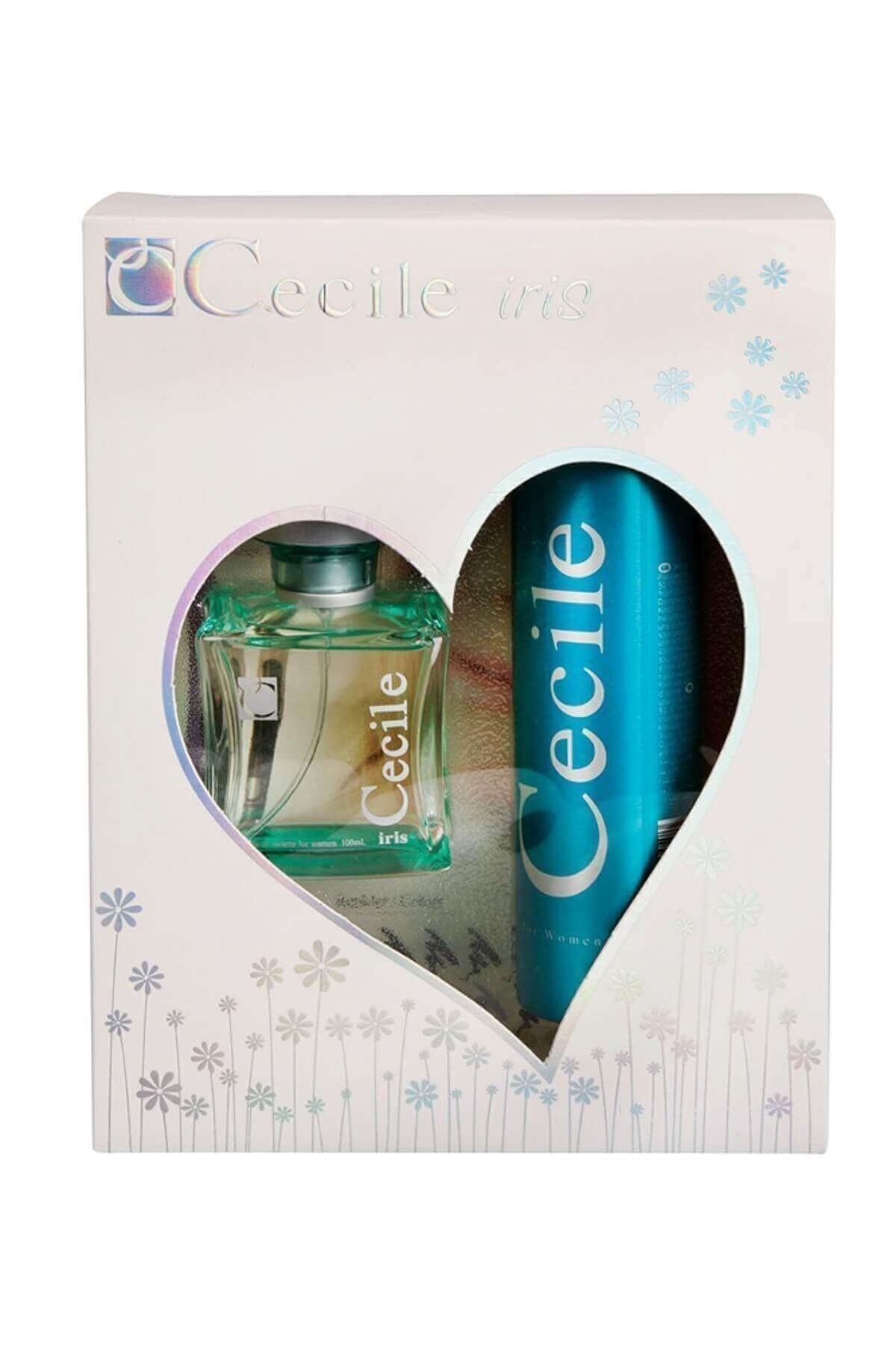 Cecile Iris Edt 100 Ml + 150 Ml Deodorant Kadın Parfüm Seti 8698438005692 1