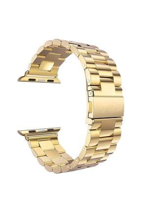 Apple Microsonic Watch Series 5 44mm Metal Stainless Steel Gold Kordon