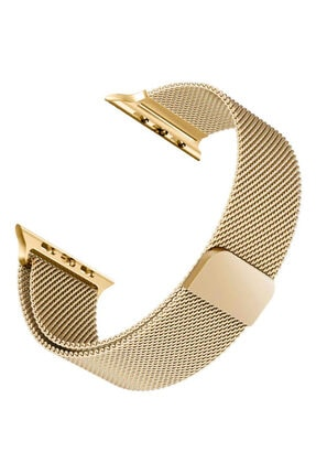 Apple Microsonic Watch 5 40mm Milanese Loop Kordon Gold Uyumlu