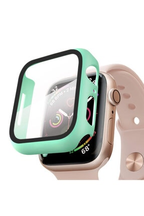 Apple Microsonic Watch Se 40mm Kılıf Matte Premium Slim Watchband Mint Yeşili