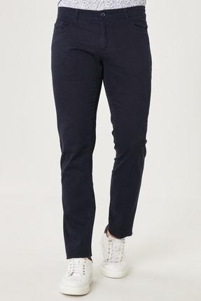 AC&Co / Altınyıldız Classics Erkek Lacivert Kanvas Slim Fit Dar Kesim %100 Koton 5 Cep Pantolon