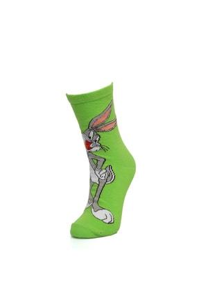 cücü socks Cucu Socks Gülen Bugs Bunny Çorap Yeşil