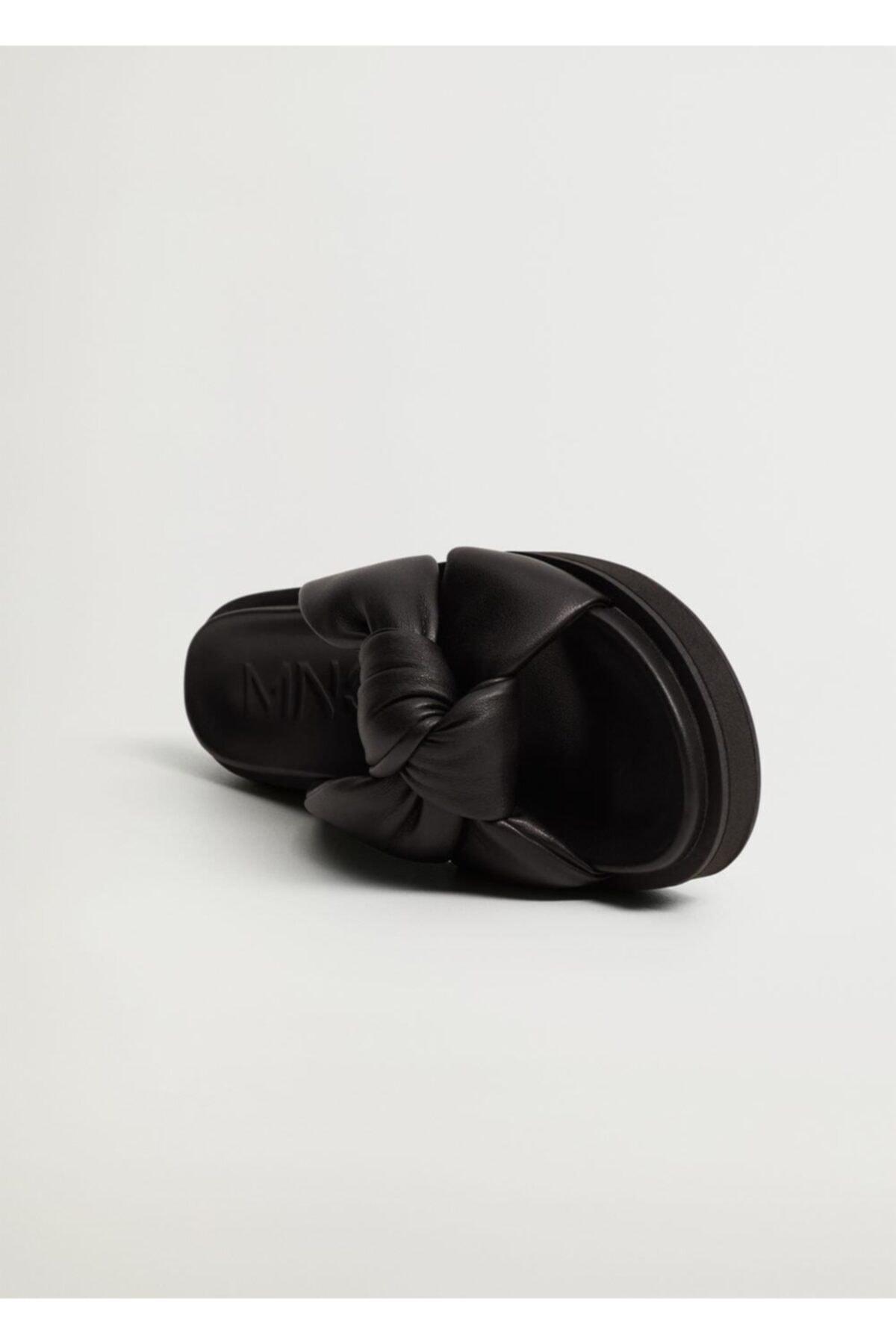 MANGO Woman Düğümlü Platform Sandalet 1
