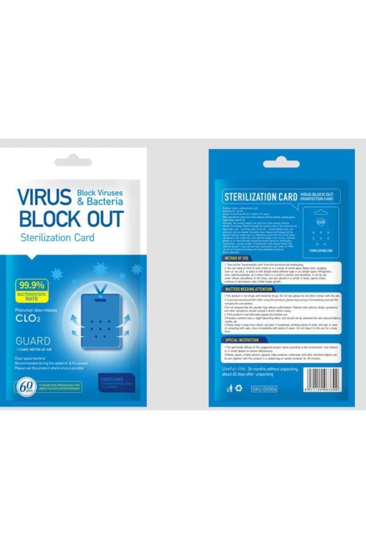 Vso DEZENFEKTAN KART | Virüs Block Out Yaka Kartı - 5'li Paket(5adet) 60 Gün Koruma 2