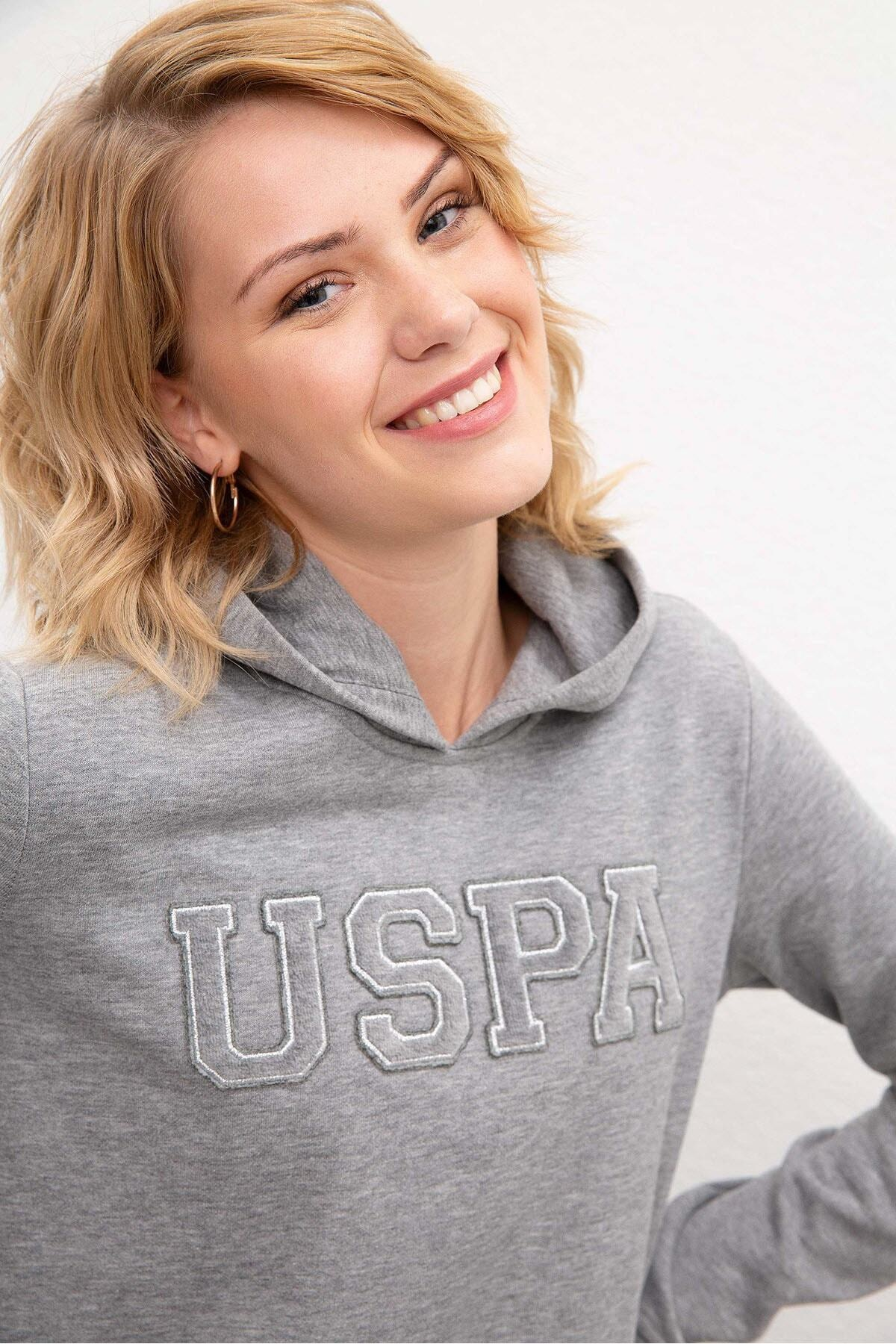 U.S. Polo Assn. Gri Kadin Sweatshirt 2