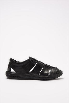 Hotiç Hakiki Deri Siyah Erkek Sandalet 02SAH206990A100
