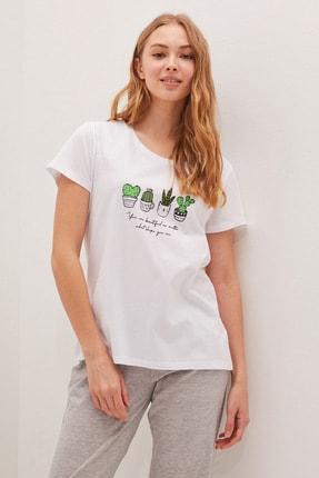 LC Waikiki Kadın Beyaz Pijama Takım