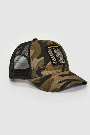 LC Waikiki Erkek Haki Baskılı Şapka