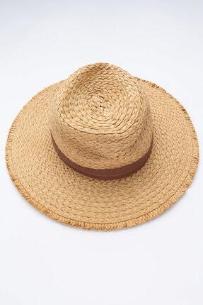 Penti Ekru Frınge Şapka
