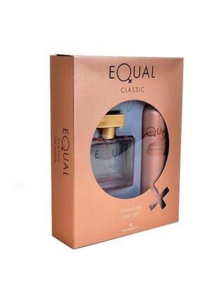 Equal Classic Kadın Edt 75 Ml + Deodorant 150 Ml Kadın Parfüm Seti 8690973028723
