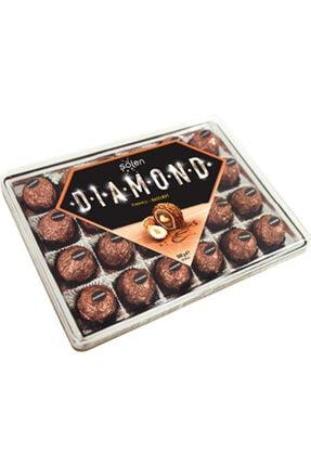 Şölen Diamond Çikolata Sütlü Çikolata Kaplamalı Bütün ve Parça Fındıklı Kremalı Gofret 300 gr