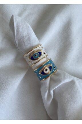 KİLİG Mavi&beyaz Yüzük Seti