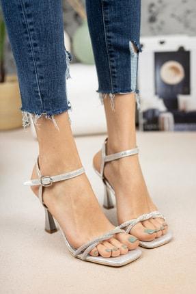 DAY'S Ayakkabı Gümüş Ince Sarmal Bantlı Ayakkabı