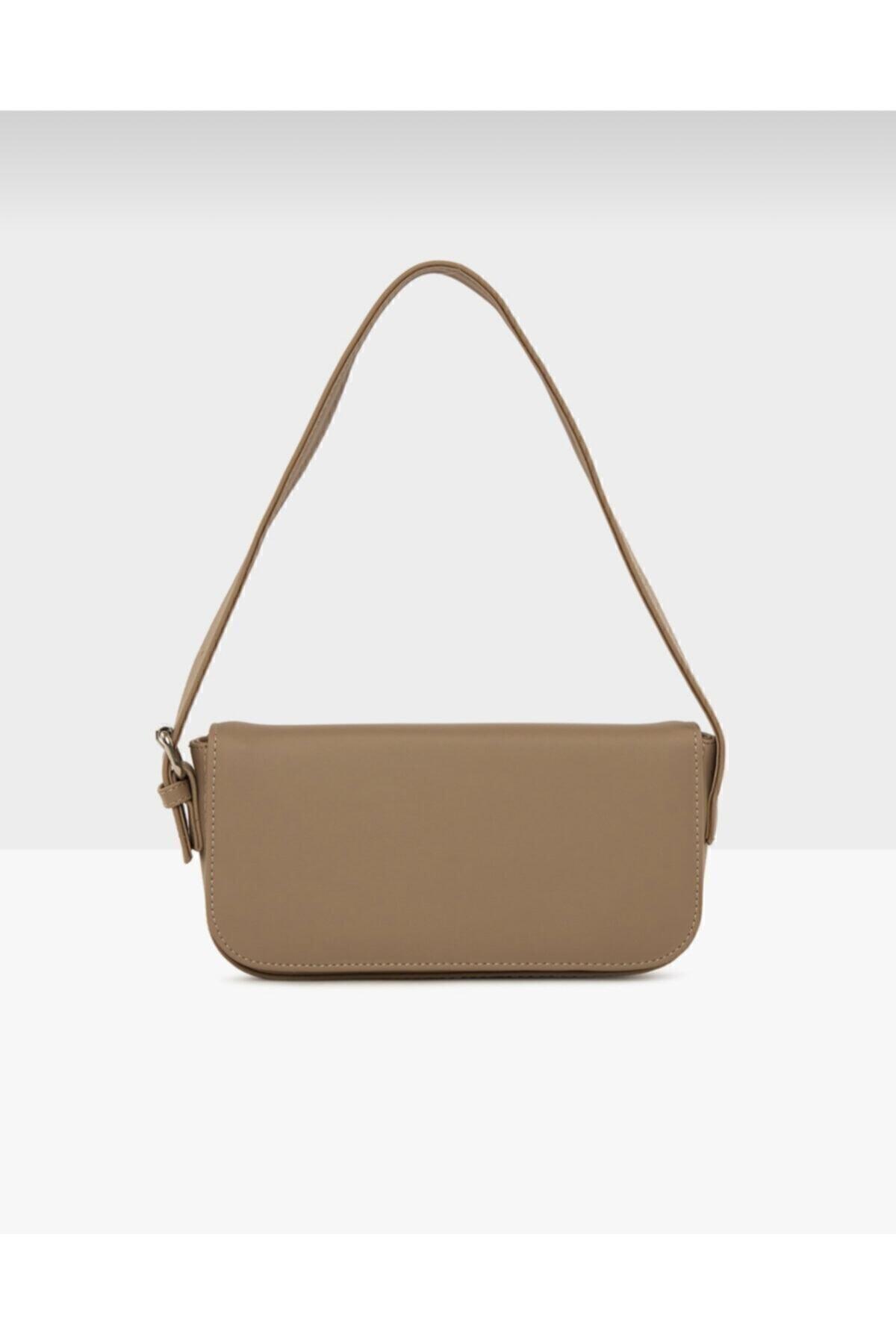 bag&more Kadın Vizon Kapaklı Baget Çanta 1