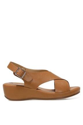 Nine West DANBIA 1FX Taba Kadın Dolgu Topuklu Sandalet 101015733