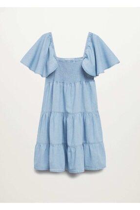 MANGO Woman Kadın Mavi Elbise