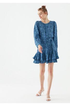 Mavi Beli Kemerli Elbise 131111-34865
