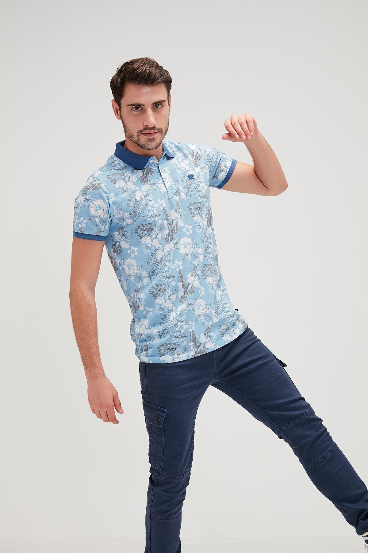 Bad Bear Erkek Mavi Polo Yaka Spor Tshirt 1