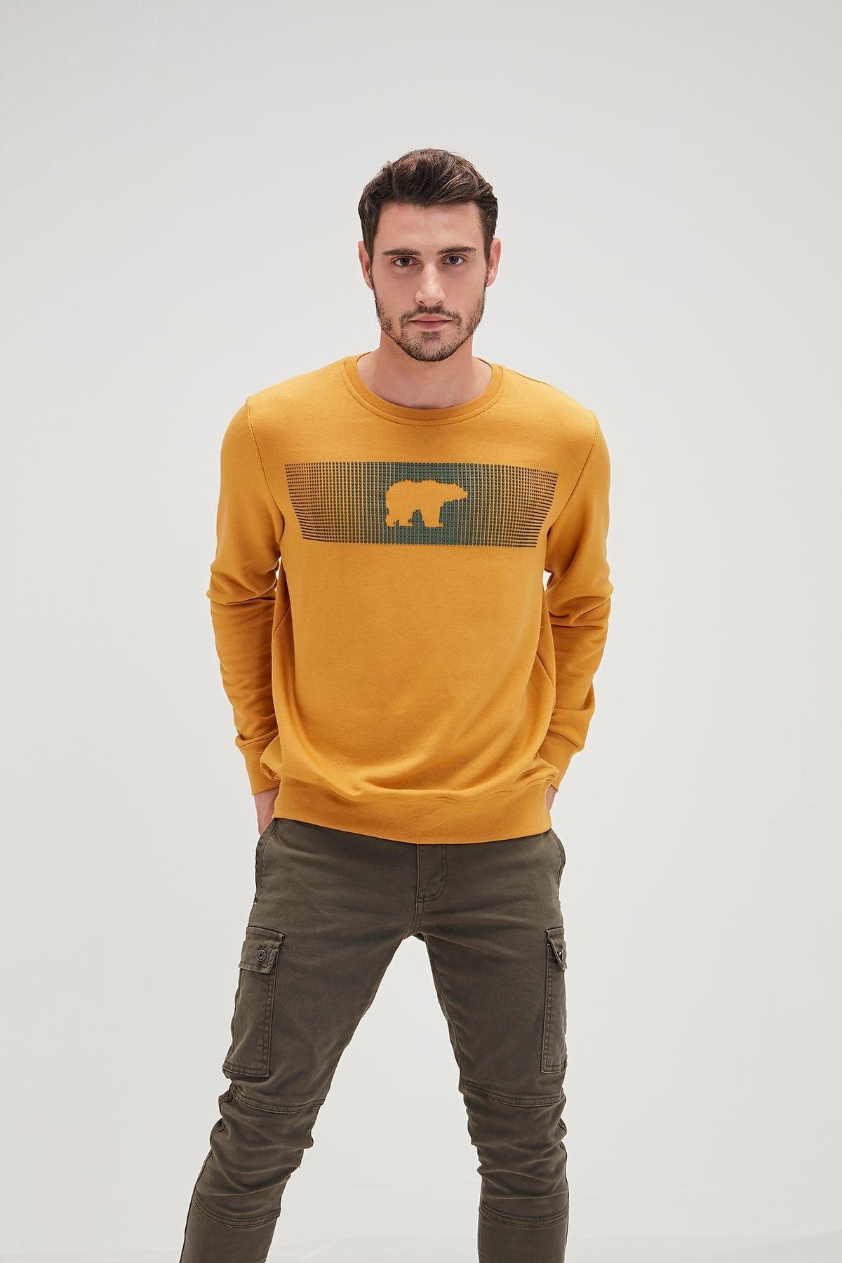 Bad Bear Erkek Sarı Fancy Sweatshirt 1