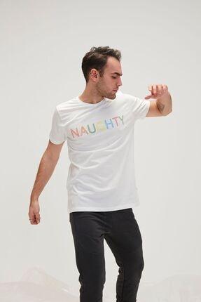 Bad Bear Erkek Beyaz Tişört Naughty Tee Spor T-Shirt