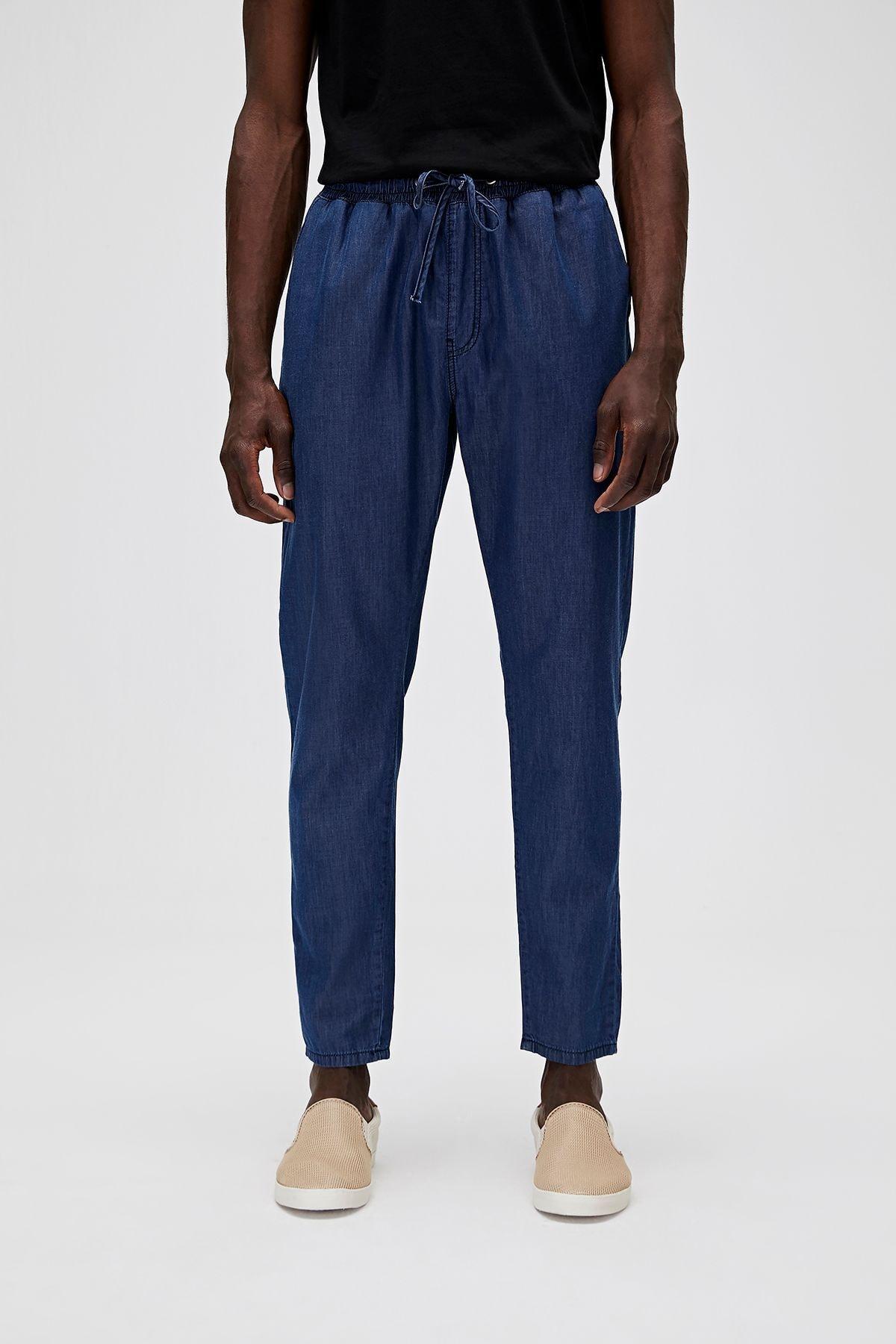 Bad Bear Erkek Mavi Chino İnce Kumaş Pantolon 20.01.16.003 1