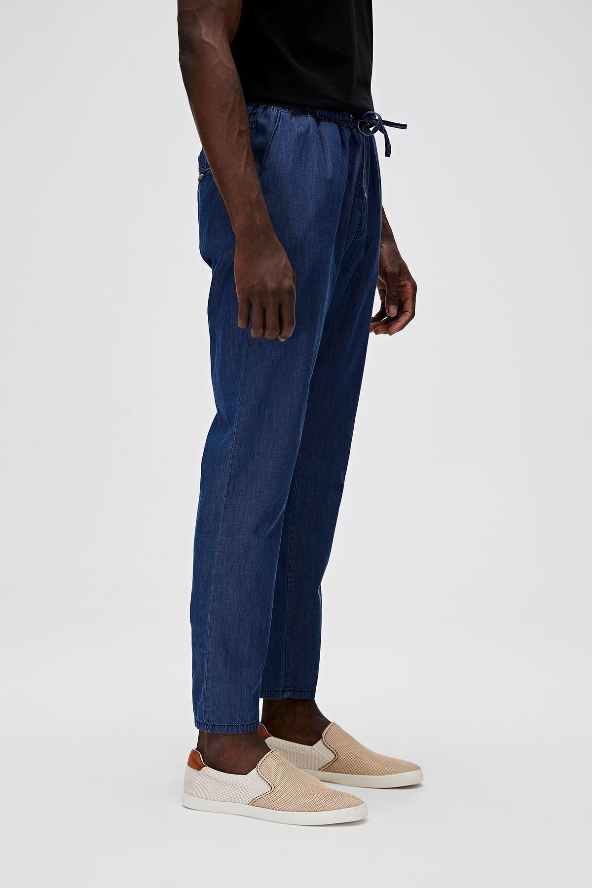 Bad Bear Erkek Mavi Chino İnce Kumaş Pantolon 20.01.16.003 2