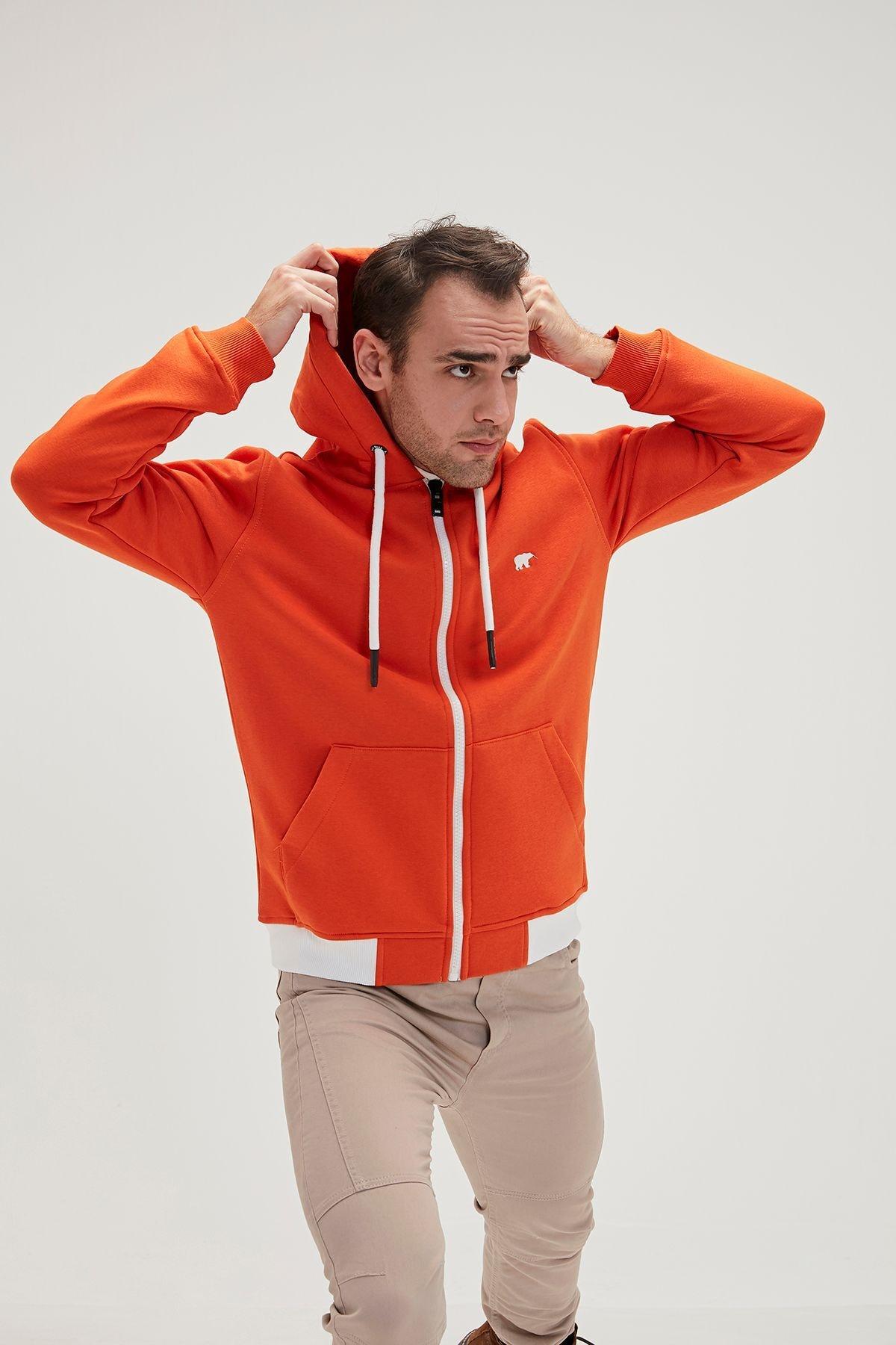 Bad Bear Erkek Humble Full Zip Kapüşonlu 3 Iplik Pamuklu Penye Sweatshirt 1