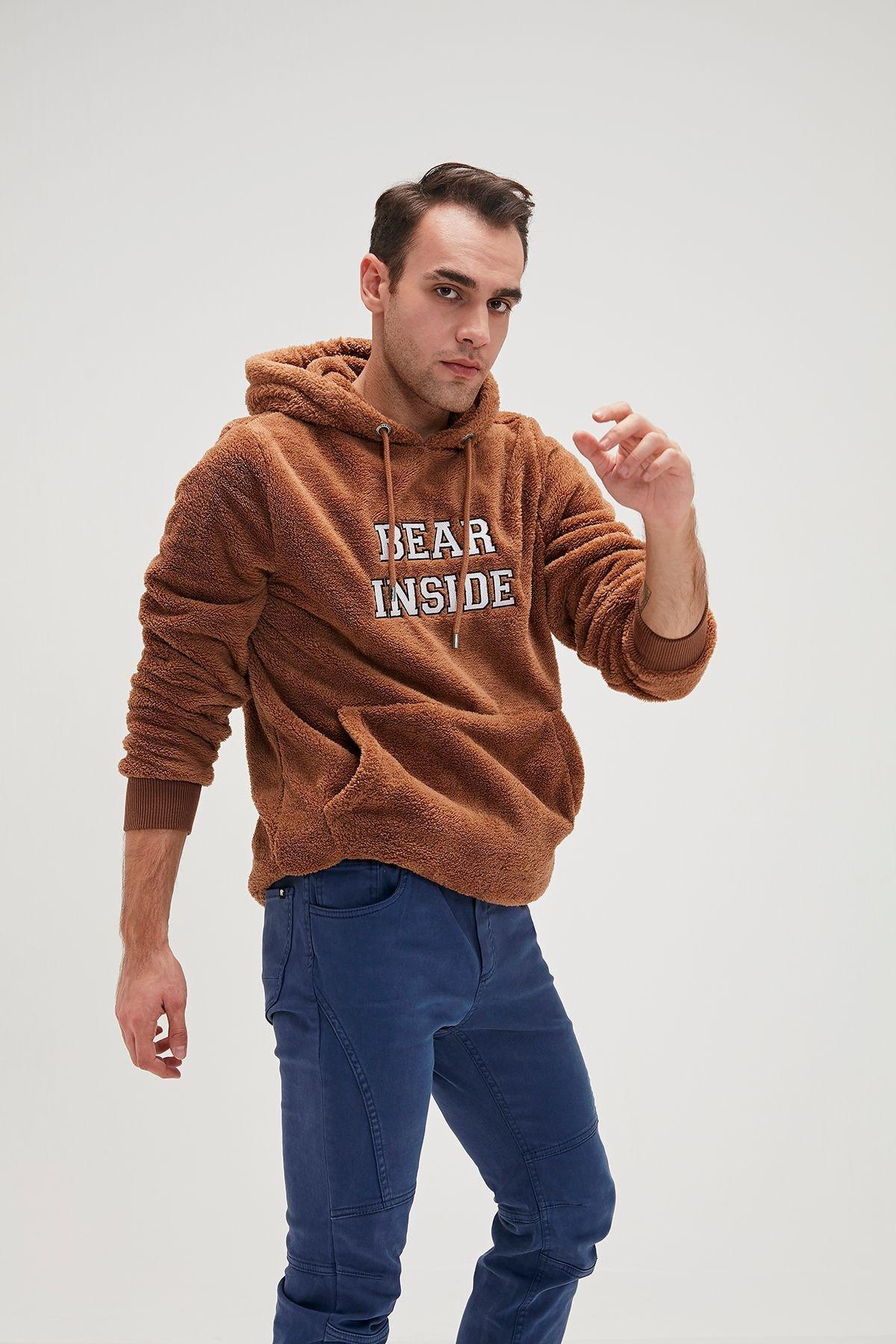 Bad Bear Erkek Kahverengi Bear Plush Sweatshirt 1