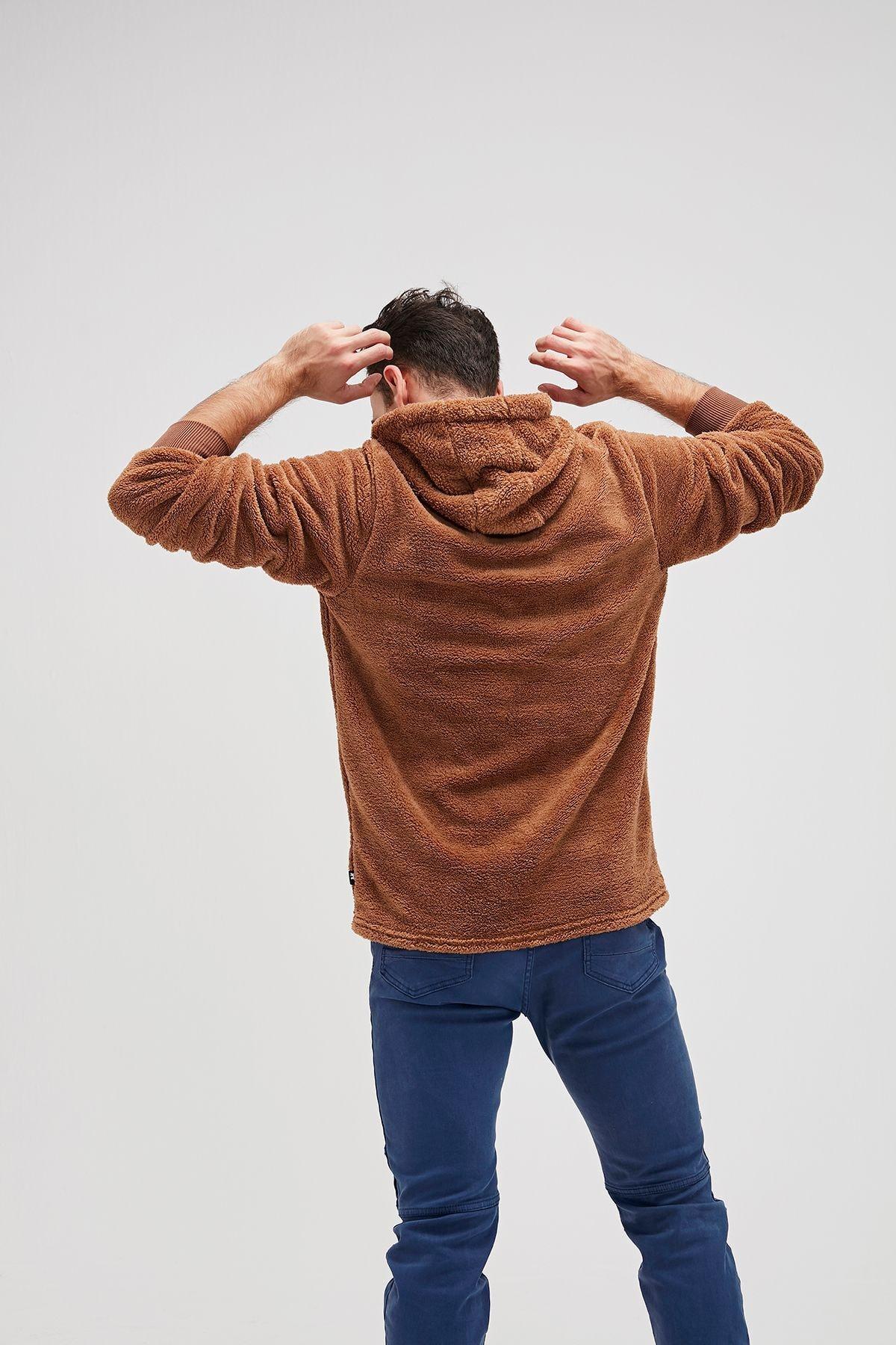 Bad Bear Erkek Kahverengi Bear Plush Sweatshirt 2
