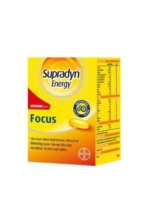 Supradyn Energy Focus Ginseng Içeren Takviye Gıda 30 Film Tablet