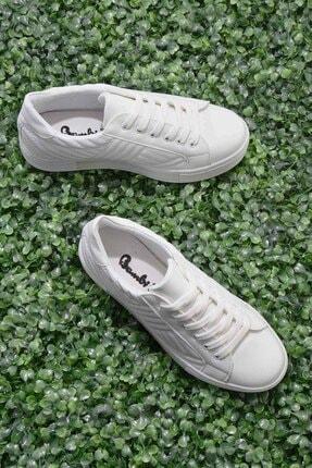 Bambi Beyaz Kadın Sneaker K01836003509